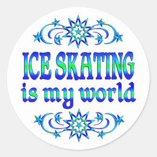Ice Skating is my World Classic Round Sticker