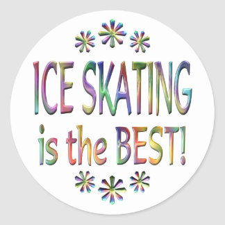 Ice Skating is the Best Classic Round Sticker