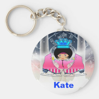 Ice Skating Key Chain