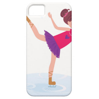 Ice skating kid on white iPhone 5 cases