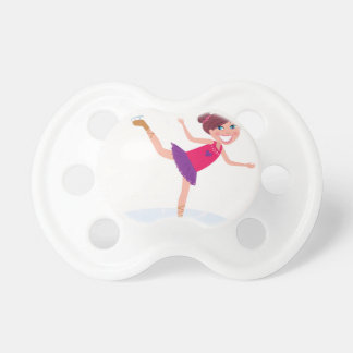 Ice skating kid on white pacifier