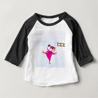 Ice skating kid pink baby T-Shirt