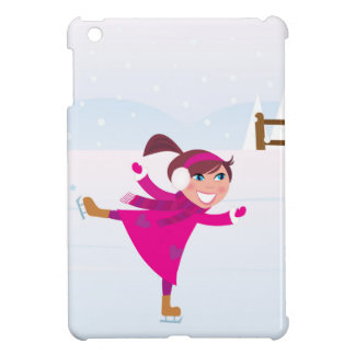Ice skating kid pink case for the iPad mini