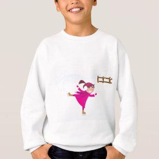 Ice skating kid pink sweatshirt