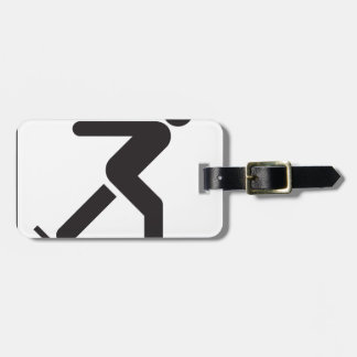 Ice Skating Luggage Tag