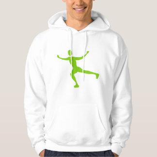 Ice Skating - Martian Green Hoodie
