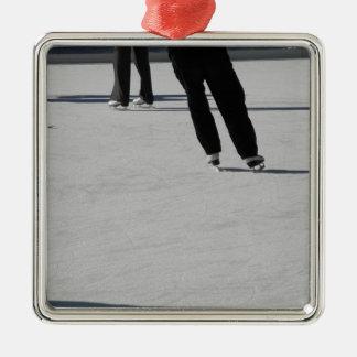 Ice Skating Metal Ornament