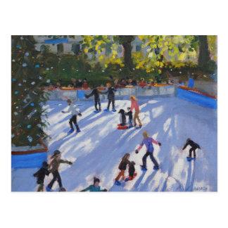 Ice skating Natural History Museum 2014 Postcard