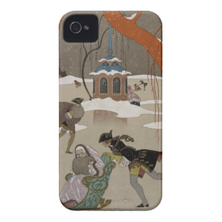 Ice Skating on the Frozen Lake iPhone 4 Case-Mate Cases