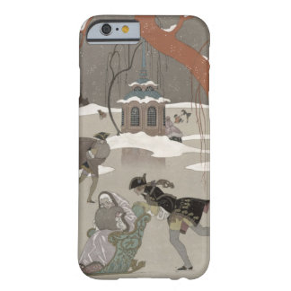 Ice Skating on the Frozen Lake, illustration for iPhone 6 Case