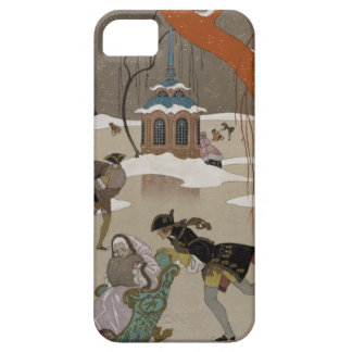 Ice Skating on the Frozen Lake iPhone 5 Covers