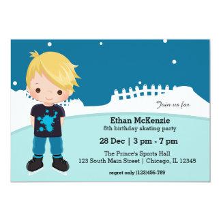 "Ice Skating party 5"" X 7"" Invitation Card"