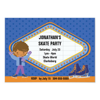 "Ice Skating Party 5"" X 7"" Invitation Card"