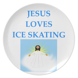 ice skating party plate