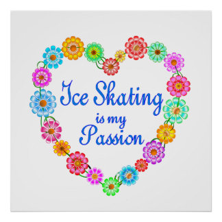 Ice Skating Passion Poster