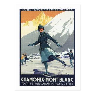 Ice Skating - PLM Olympic Promo Poster Postcard