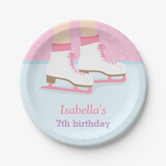 Ice Skating Rink Girls Birthday Party Supplies 7 Inch Paper Plate