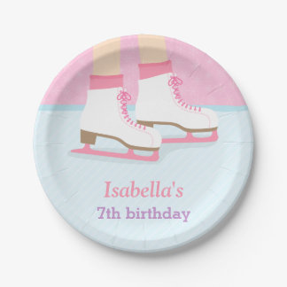 Ice Skating Rink Girls Birthday Party Supplies Paper Plate
