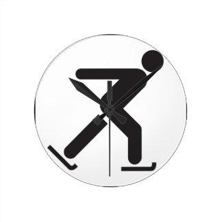 Ice Skating Round Clock