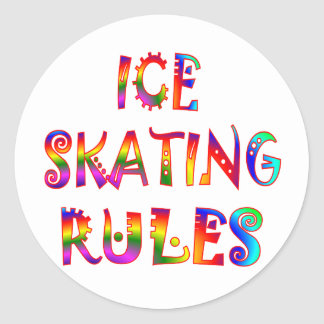Ice Skating Rules Classic Round Sticker