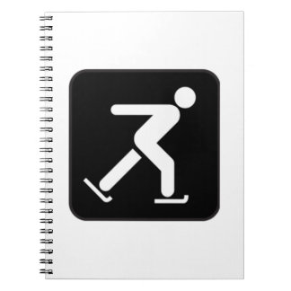 Ice Skating Sign Notebook