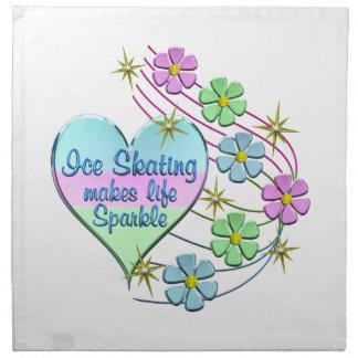 Ice Skating Sparkles Napkin