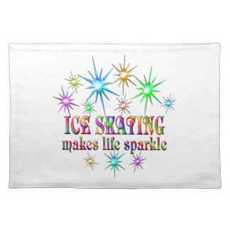 Ice Skating Sparkles Placemat