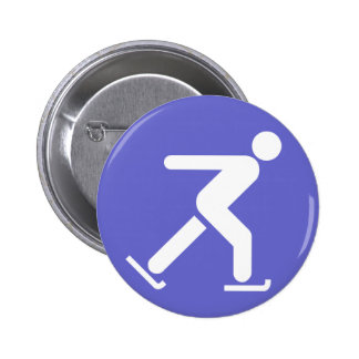 Ice Skating Symbol Button