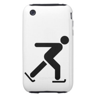 Ice Skating Symbol Tough iPhone 3 Cover