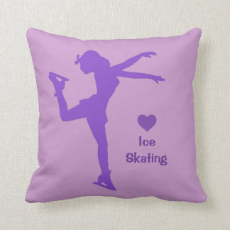 ♥ Ice Skating Throw Pillow (Purple)