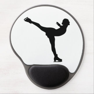 Ice Skating Woman Silhouette Gel Mouse Pad