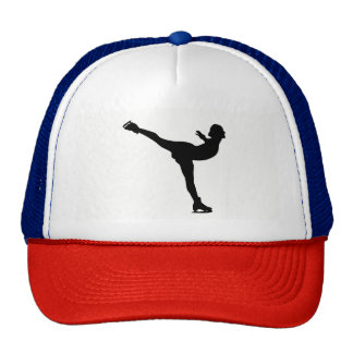 Ice Skating Woman Silhouette Trucker Hat