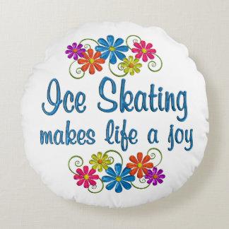 Ice SkatingJoy Round Pillow