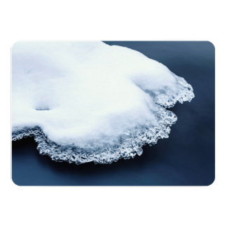 Ice, snow and moving water card