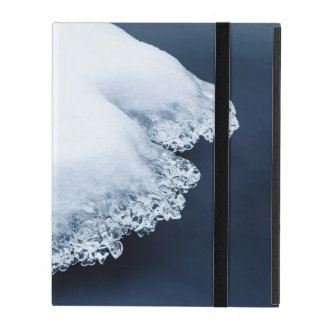 Ice, snow and moving water iPad cover