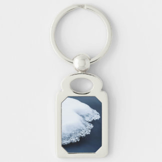 Ice, snow and moving water keychain