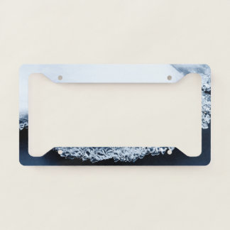 Ice, snow and moving water license plate frame
