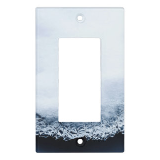 Ice, snow and moving water light switch cover