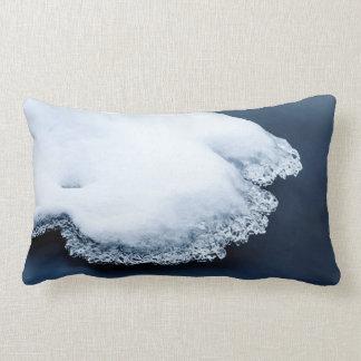 Ice, snow and moving water lumbar pillow