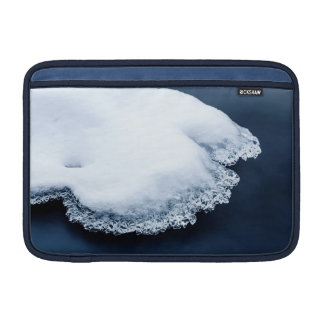 Ice, snow and moving water MacBook sleeve