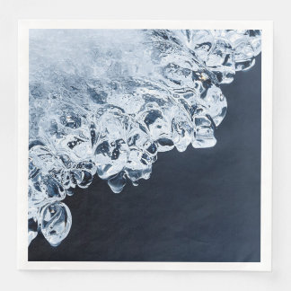 Ice, snow and moving water paper dinner napkin