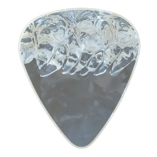 Ice, snow and moving water pearl celluloid guitar pick