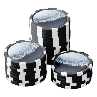 Ice, snow and moving water poker chips