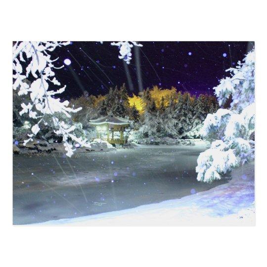 Ice-Snow-pond Postcard