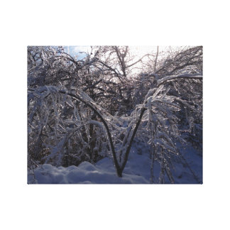 Ice Storm Photo Canvas Art Print Michigan