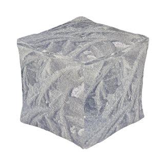 Ice Swirl Patterns Cube Cube Pouf