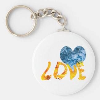Ice - Warming Love Basic Round Button Keychain
