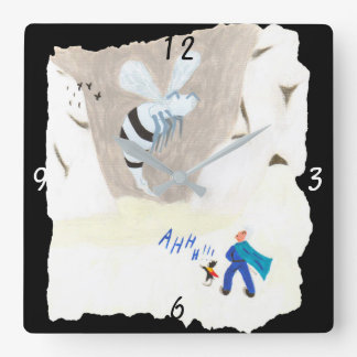 Ice Wasp Mountain Square Wall Clock