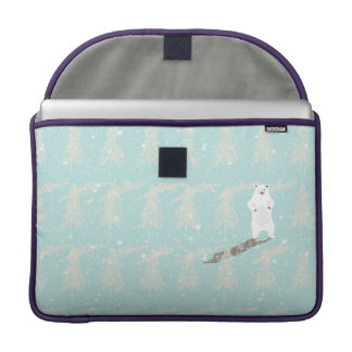 Icebear in snow forest MacBook pro sleeves