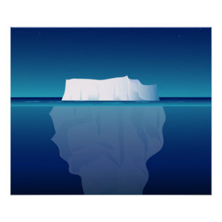 ICEBERG AT NIGHT POSTER